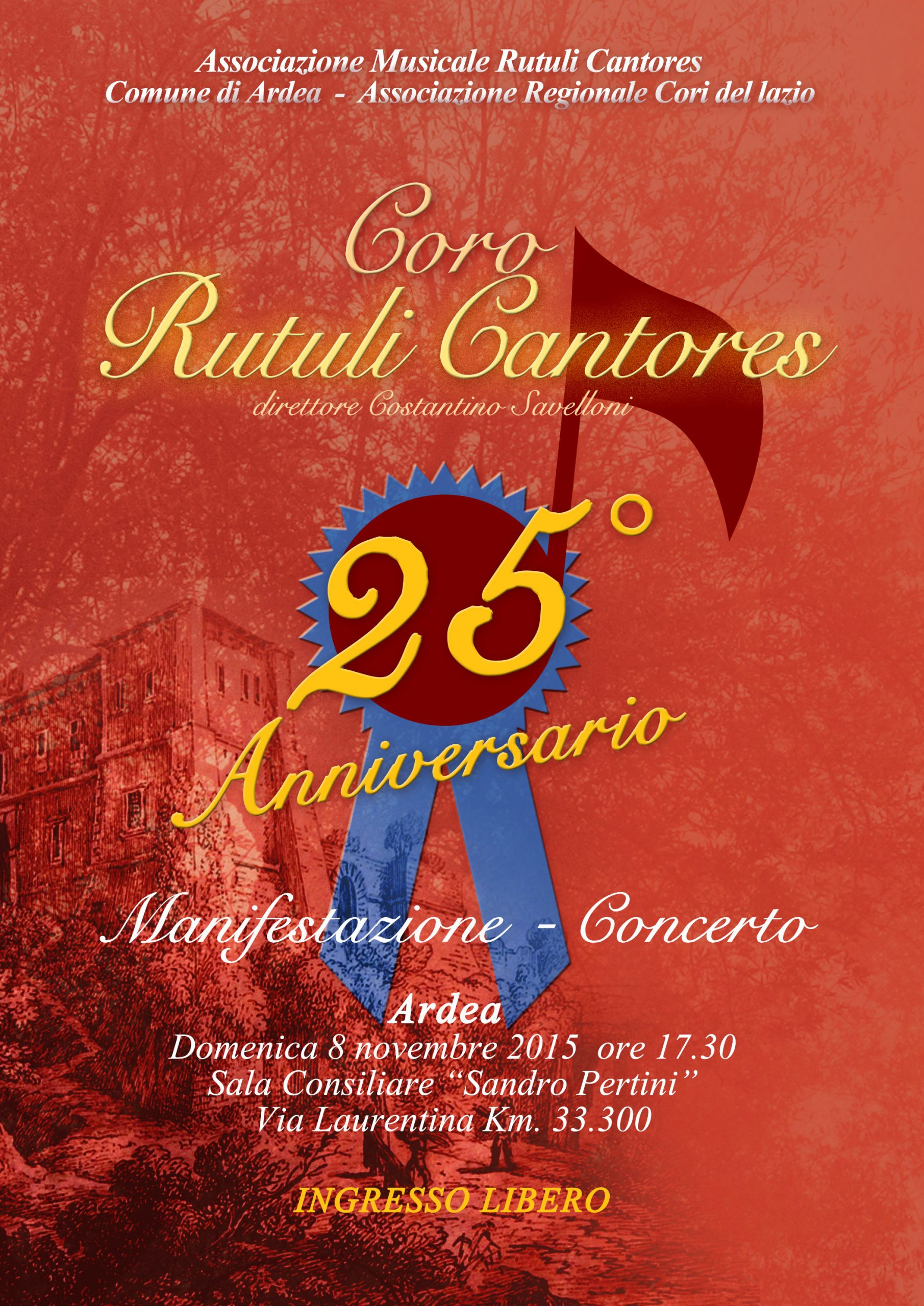 "Concerto 25° Anniversario ""Rutuli Cantores"""